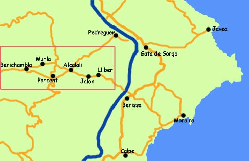 Map Of Spain Jalon.Restaurants In Jalon Valley Costa Blanca Spain
